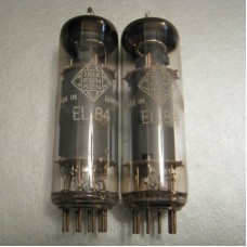 Telefunken EL84 / 6BQ5 Diamond Bottom Pair Vacuum Tube