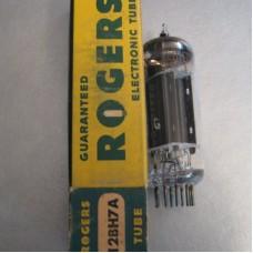 Rogers 12BH7A Vacuum Tube Dual Triode NOS