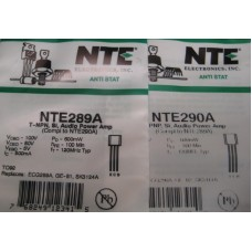 NTE 289A NTE 290A Transistors