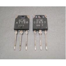 2SA1186 2SC2837 Sanken Power Transistor Pair
