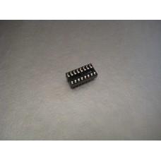 16 Pin PCB Mount DIP IC Socket  Part # T02-16