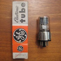 GE  6SQ7GT Glass Vacuum Tube with Metal Base