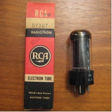 RCA 5Y3GT  Full Wave Rectifier Vacuum Tube with Black Plates