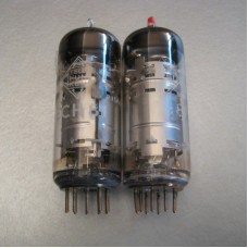 Telefunken ECH81 6AJ8 Vacuum Tube Pair Diamond Bottom Logo