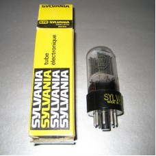 Sylvania 6SN7GTB Vacuum Tube Clear Top Tall Bottle Black Plate Bottom Getter