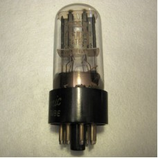 GE 6SN7GTB Vacuum Tube Clear Top Tall Bottle Black Plate Bottom Getter